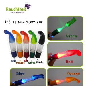 MULTI SPARPACK LED Clear Verdampfer mit ergonomisch geformtem Mundstück in 3 tollen Farben